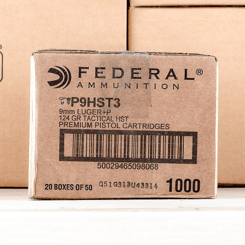 50 Rounds of 124gr JHP HST 9mm Ammo by Federal Law Enforcement