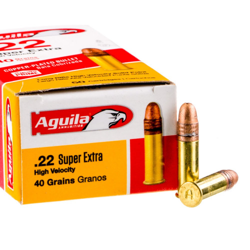 500 Rounds of .22 LR Ammo by Aguila Super Extra - 40gr CPSP